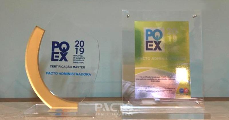 Pacto Administradora recebe Certificação Master no PQEX 2019