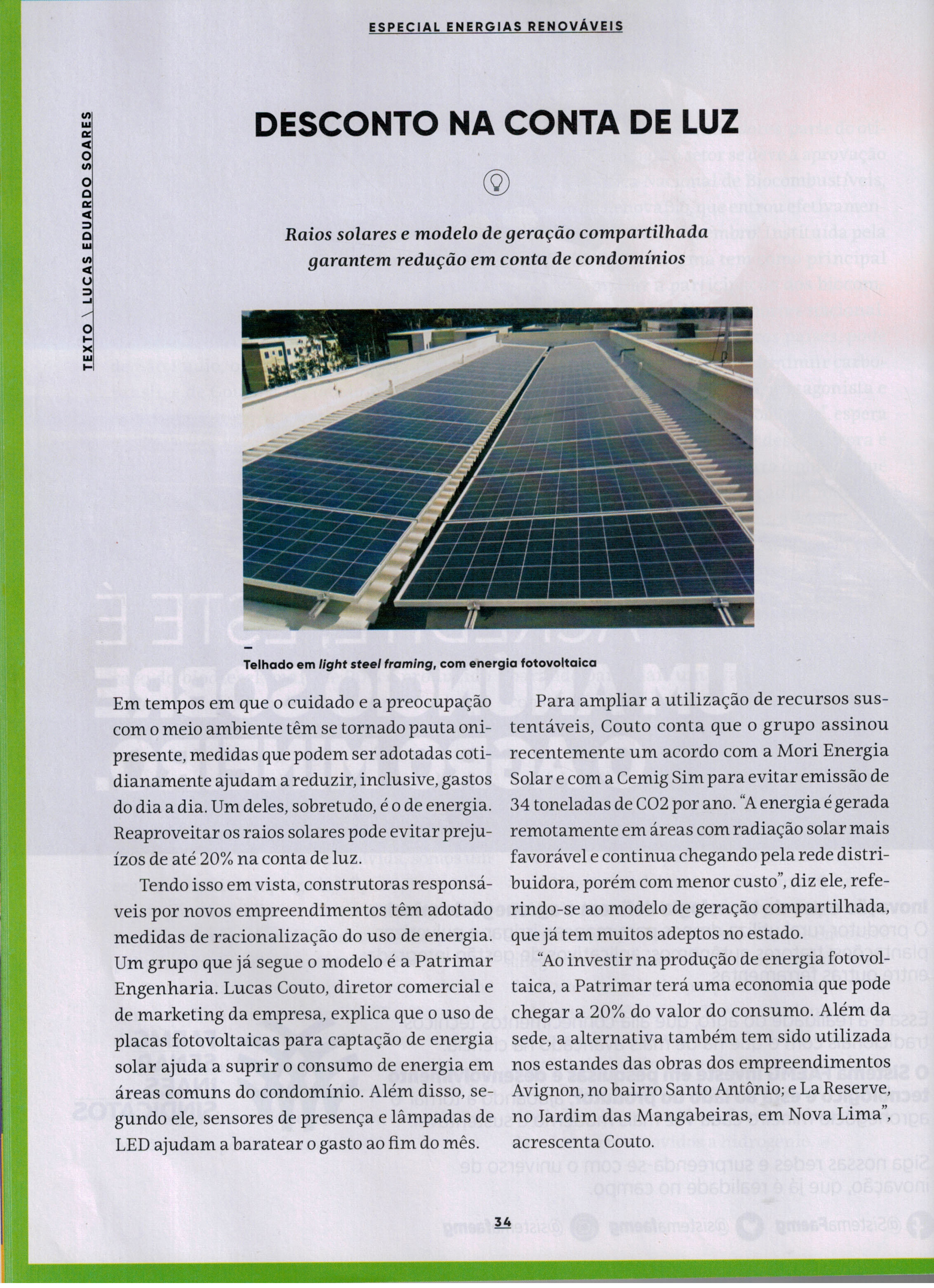 energia renovada. viver brasil